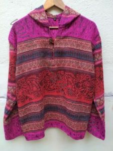 Длинная тёплая непальская кофта (пуловер), унисекс