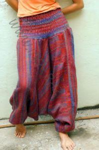 Зимние тёплые штаны алладины (темно-красные)