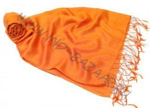 Апельсиновый шелковый шарф палантин (Москва)