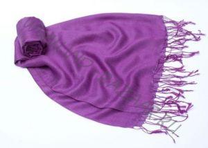 Фиолетовый шарф-палантин 70% шелка 30% шерсти (СПб)
