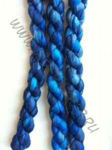 Синий индийский шёлковый шарф (СПб)