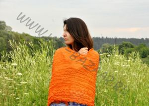Оранжевый шёлковый шарф (СПб)