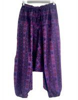 фиолетовые мужские штаны алладины из хлопка; символ Ом, Москва