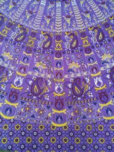 Длинная юбка с запахом, фиолетовая