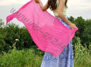 Розовый шарф из шёлка (Москва)