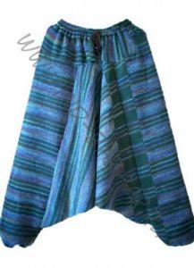 Зимние теплые штаны алладины сине-зеленого цвета (Москва)